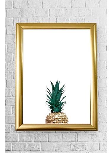 Lyn Home & Decor Yarım Ananas Çerçeveli Poster Tablo 17,5X23,5 Altın